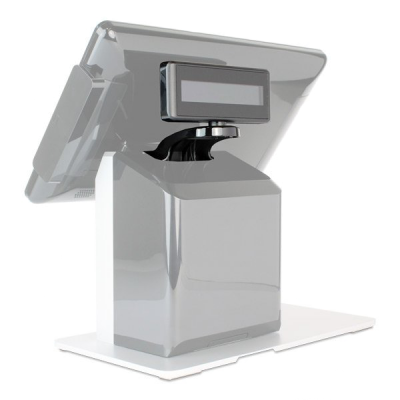 Rear-facing customer display for Wash-Dry-Fold POS system