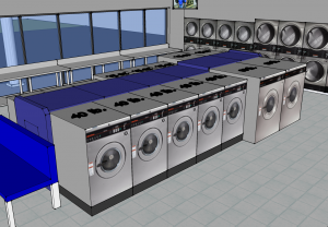 3D laundromat design