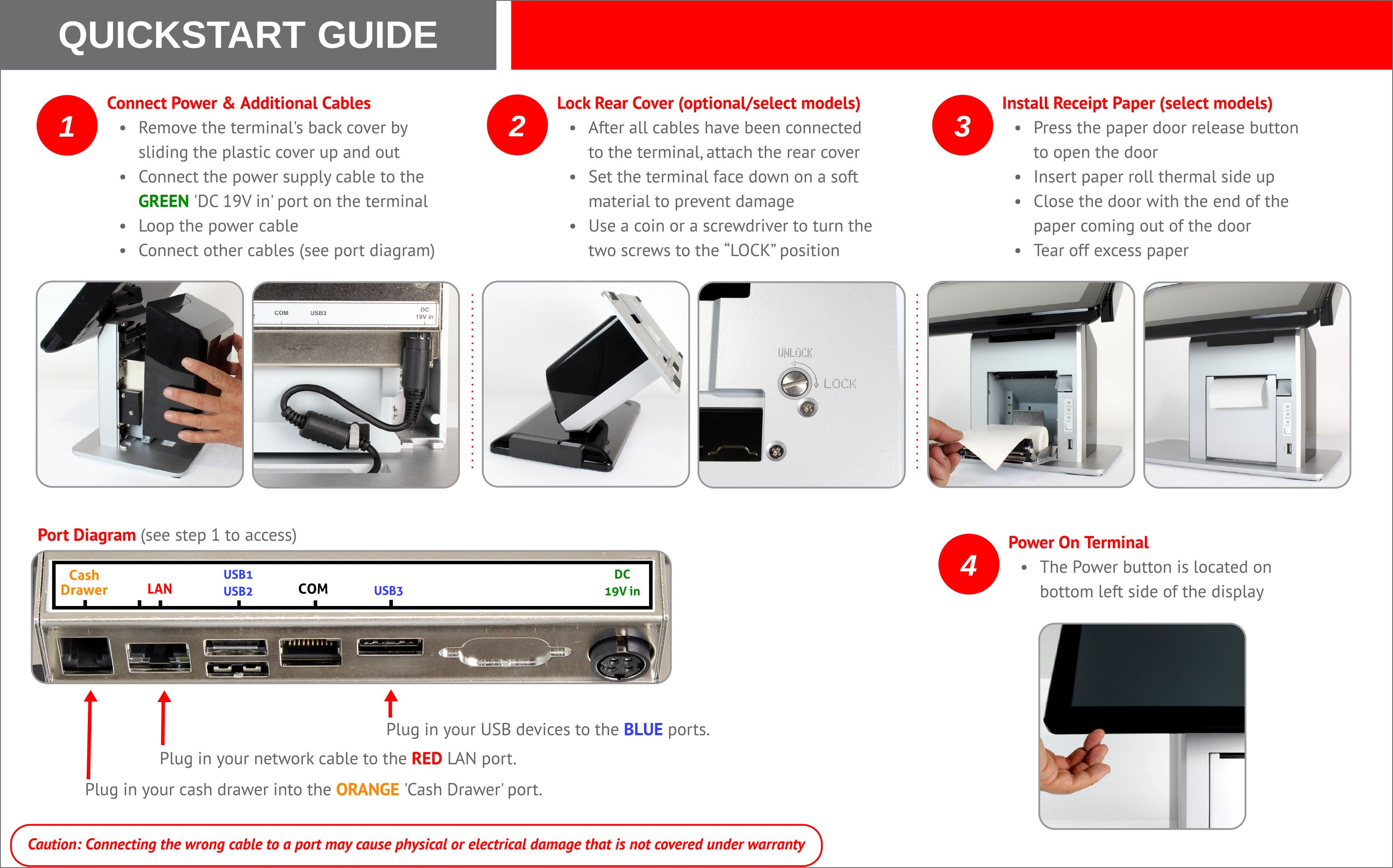 Wash-Dry-Fold POS drop-off laundry point-of-sale system hardware quick setup guide