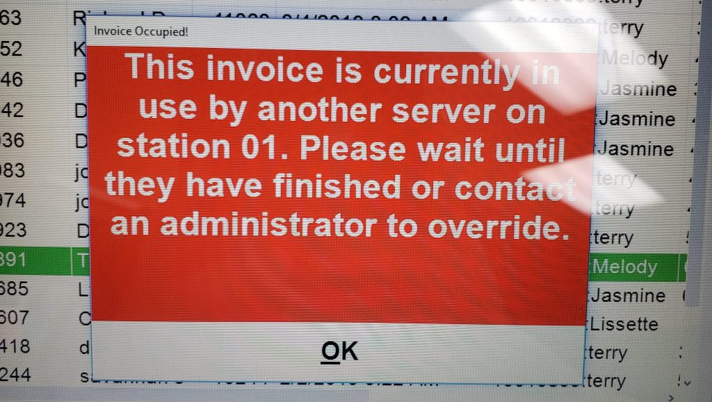 On Hold Error Message