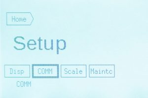 Weight scale programming screen 2